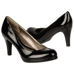 How high are your heels? Stay conservative with a pair of comfortable, low-heeled pumps. Black pumps are definitely a staple in one's wardrobe!