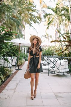 black cutout minidress