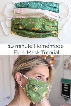 Floral fabric denim bag face mask organiser zip pouch tulip