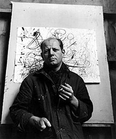 Jackson Pollock, good friend and neighbour to Conrad Marca-Relli photographed by Arnold Newman.