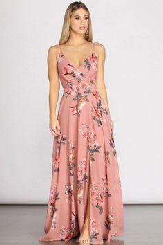 Floral Dress Outfits, Floral Chiffon Dress, Casual Dresses, Fashion Dresses, Formal Dresses, Chiffon Fabric, Long Floral Dresses, Floral Bridesmaid Dresses, Long Summer Dresses