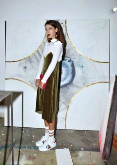 Ph. by Harris Kyprianou Wearing: White ruffled top - Stradivarius | Velvet dress - Zara | Glitter  Socks - Weekday stores | Sneakers - Gucci | Sunglasses - Alain Mikli |  Earrings - H&M | Blazer - Vintage  Viva la velvet for this season (and all GUCCI everything). On the one  hand, velvet: there is something about A/W16 fashion that goes beyond a  simple call to a layering action. Point taken; thing is, layer what! Last  season, it was mostly about thin layers of silk and linen, we are…