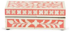 "7"" Bone Box, Coral/White 