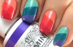 Diseños de uñas con Gelish pintadas, diseño de unas con gelish colores.   #diseñatusuñas #nailsCLUB #uñasbonitas