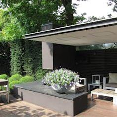 Modern Tuinhuis Stucwerk Garage Carport Architectuur Www