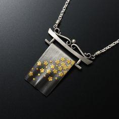 Japanese Kimono motif Keum Boo necklace by (C) KAZNESQ