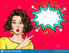 Find Pop Art Woman Surprise Showing Product stock images in HD and millions of other royalty-free stock photos, illustrations and vectors in the Shutterstock collection. Thousands of new, high-quality pictures added every day. Art And Illustration, Desenho Pop Art, Photo Lovers, Pop Art Women, Pop Art Wallpaper, Pop Art Girl, Jolie Photo, Vector Pop, Female Art