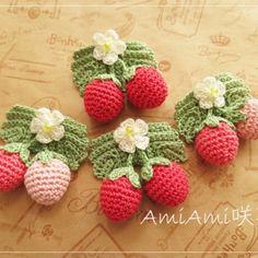 可愛いレース編み作品の紹介ですo(*^▽^*)o | 夢うさぎ Crochet Flowers, Crochet Patterns, Shabby, Embroidery, Kids, Accessories, Cherries, Animal, Food
