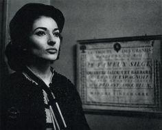 Maria Callas, opera singer.
