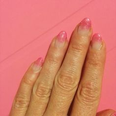 The Stylemaker: Hot Pink and Glitter Fade French Manicure