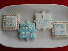 Baptism cookies by Dyan