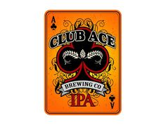 Cool Club Ace Bewing Co. IPA. I can see this logo design on many beer bottles int eh future. Successful combination.