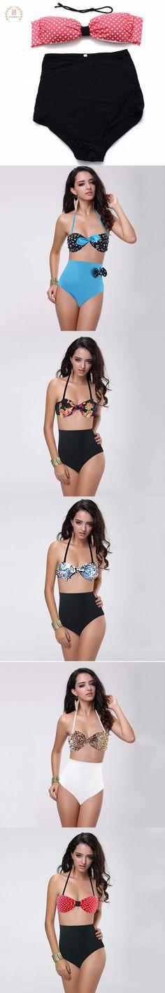 Sexy Swim Suit Women High Waist Bathing Suits Lace Up Bikini Set Summer Beach Swimwear for Women $10.88 Lace Bikini, Bikini Set, Women Swimsuits, Summer Beach, Bathing Suits, High Waist, Lace Up, Swimming, Sexy
