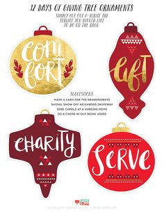 24 DAYS OF FREEBIES :: DAY 7 :: GIVING TREE ORNAMENTS — happy happy art collective