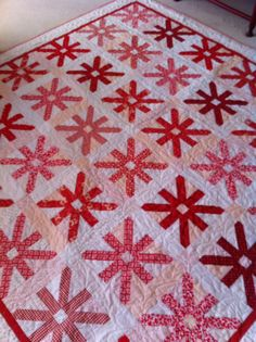My red and white quilt for the charity red and white quilt show