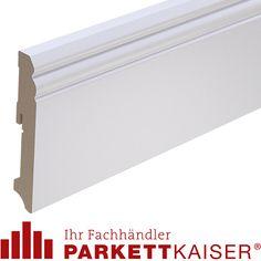 Kaiser elegante weiße Sockelleiste Hamburg Profil 12cm hoch