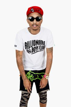 Pharrell Williams, billionaire boys club, and sexy af image