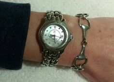 New! Retro Silver Horse Bit Bracelet https://www.etsy.com/listing/206929853/retro-silver-snaffle-three-horse-bit