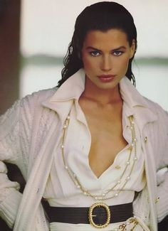 Carre Otis  -  Vogue UK 80's