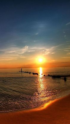 Sky, Sunset, Beach, Beautiful, Natural Scenery #scenery http://pinterest.com/ahaishopping/