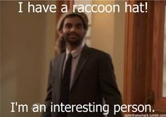 racoon hat tom haverford - Google Search