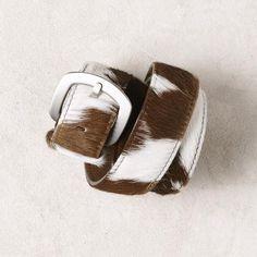 Tan Cowhide Belt