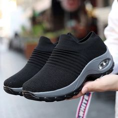 Women's Multi-Color Slip-On Cushion Sneakers Platform Sneakers, Shoes Sneakers, Women's Shoes, Baskets, Walking Shoes, Sock Shoes, New Shoes, Comfortable Shoes, Shoes Online