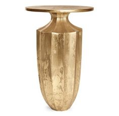 Bernhardt Brielle End Table Ivory Lacquer And Patinated