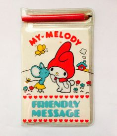 1976 sanrio my melody friendly message
