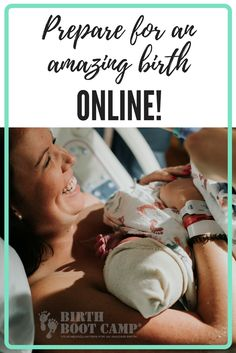 Preparing for birth just got easier! Take an online childbirth class with Birth Boot Camp. Preparation includes pregnancy nutrition, choosing the right care provider, navigating and coping with labor, and so much more. Take an online class today!