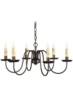 Sheraton 6 Light Chandelier With Satin Black Finish | House of Antique Hardware