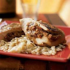 Chicken Breasts Stuffed with Goat Cheese and Sun-Dried Tomatoes | MyRecipes.com