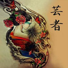 Geisha tattoo designs in the other art