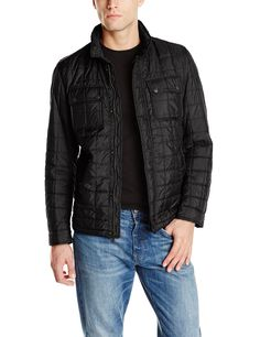 Tommy Hilfiger Men's 2 Pocket Quilted Jacket, Black, XX-Large at Amazon Men's Clothing store:
