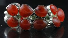 Top Grade Natural Carnelian & Green Amethyst Giant Bracelet 375 Cts  #16-1 by WhereDidYouBuyIt on Etsy