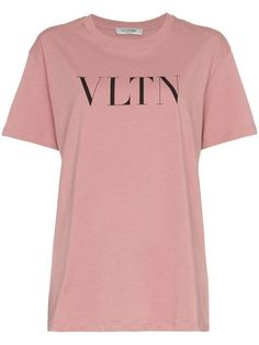 Valentino Text Print Crew Neck T-shirt - Farfetch Crew Neck, Valentino,  Closet 9458008bf494