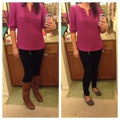 #stitchfix MARKET AND SPRUCE Angela Quilted Detailed Blouse and LEVEL 99 Kris Skinny Jean in navy