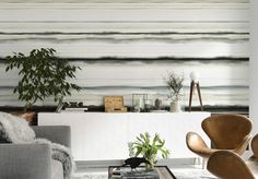 Wall design in the living room - 85 ideas and examples