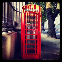 London; phone booth