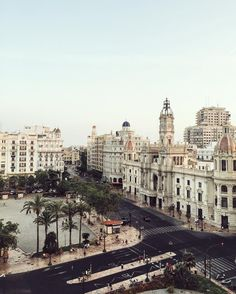 A stunning view from Plaza Del Ayuntamiento De Valencia. Oh The Places You'll Go, Places To Travel, Travel Destinations, Valencia Spain, Adventure Is Out There, Travel And Leisure, Spain Travel, Plaza, Travel Inspiration