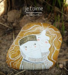 Irene Fenollar: Special serie for Valentine's day Pebble Painting, Pebble Art, Stone Painting, Rock Painting, Environmental Sculpture, Painted Rocks, Hand Painted, Decoupage, Pet Rocks