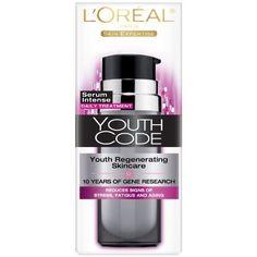 L'Oreal Paris Youth Code Regenerating Skincare Serum Intense Daily Treatment, 1-Fluid Ounce by L'Oreal Paris, http://www.amazon.com/dp/B0047F70B6/ref=cm_sw_r_pi_dp_rYP8rb1QND82M