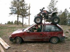 Redneck ATV Carrier - THATS DEDICATION!!!