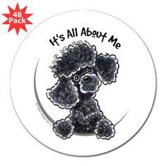 Black Poodle Lover Sticker by ahamiltonart