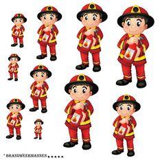 * Brandweermannen.... uitknippen-plastificeren! Verschillende opdrachten...als je ze ook doormidden knipt meteen een coöperatieve oefening erbij!