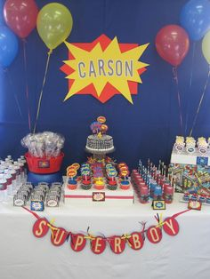Super Hero Birthday Party Ideas - Dimple Prints