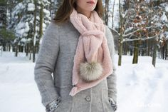 Dame, Winter, Fashion, Pom Poms, Open Set, Fur, Headscarves, Accessories, Winter Time