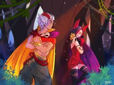 Xayah and Rakan (league of legends) by EvBel on DeviantArt League Of Legends Live, Rakan League Of Legends, League Of Legends Fanart, League Of Legends Characters, Rakan Lol, Liga Legend, R Lol, Anime Monsters, Fairy Tail Ships