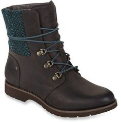Coffee Brown/Blue Green North Face Ballard boot