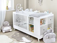 White and Grey Cot and Changer Combo L 190 Celeste Baby Nursery Decor, Baby Bedroom, Baby Boy Rooms, Baby Cribs, Baby Decor, Nursery Room, Baby Room Decor For Boys, Baby Boys, Babies Rooms